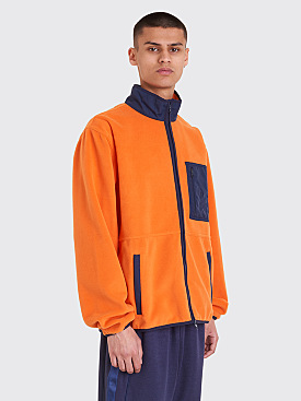 Polar Skate Co. Stenström Fleece Jacket Orange / Navy
