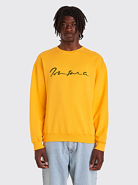 Polar Skate Co. Signature Crewneck Sweatshirt Yellow
