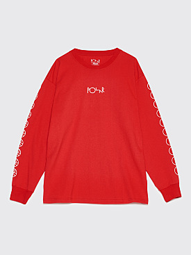 Polar Skate Co. Racing Long Sleeve T-Shirt Red