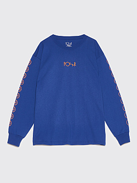 Polar Skate Co. Racing Long Sleeve T-Shirt Blue