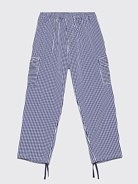 Polar Skate Co. Striped Cargo Pants White / Navy