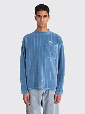Polar Skate Co. Velour Pullover Grey Blue