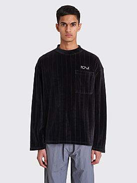 Polar Skate Co. Velour Pullover Black