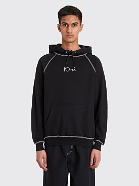 Polar Skate Co. Contrast Default Hooded Sweatshirt Black