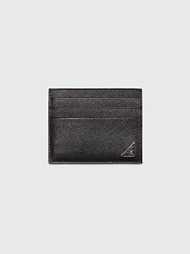 Prada Saffiano Leather Cardholder Black