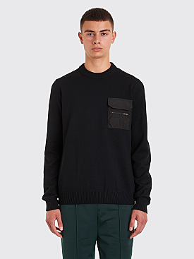 Prada Knitted Pocket Sweater Black