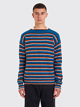 Prada Knit Sweater Striped Blue / Orange