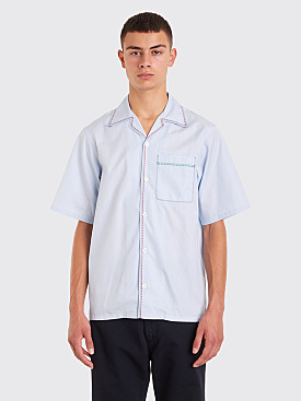 Prada Poplin Shirt Checkered Light Blue