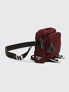 Prada Cross Body Bag Burgundy