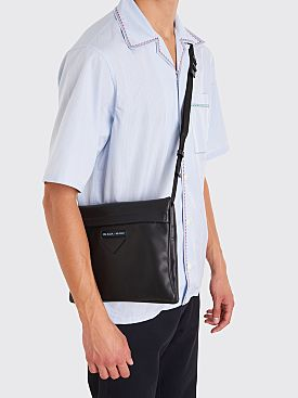 Prada Leather Shoulder Bag Black
