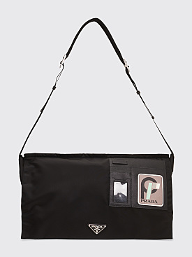 Prada Technical Nylon Shoulder Bag Black