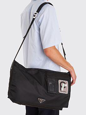 Prada Technical Nylon Shoulder Bag Black
