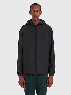 Prada Hooded Wool Jacket Anthracite