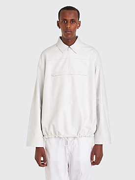 Prada Leather Anorak White