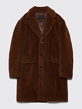 Prada Alpaca Coat Tobacco Brown
