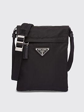 bb89ef91097e Prada Technical Nylon Flap Shoulder Bag Black