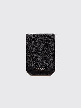 Prada Saffiano Leather Money Clip Black