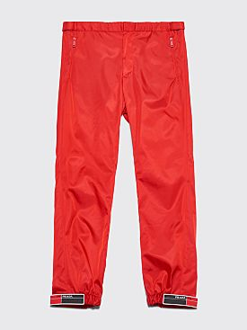 Prada Gabardine Nylon Pants Red