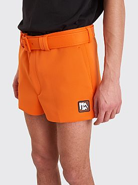 Prada Technical Jersey Shorts Orange