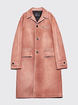 Prada Suede Coat Rosa Antico