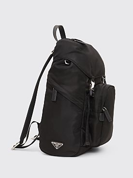 Prada Nylon Backpack Bag Black