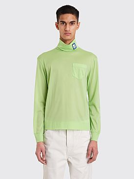 Prada Jersey Turtleneck Green
