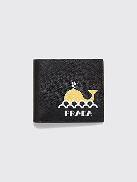 Prada Whale Sketch Saffiano Leather Wallet