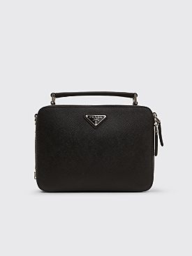Prada Brique Saffiano Leather Bag Black