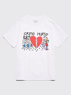 Quartersnacks Crime Hurts T-shirt Ash Grey