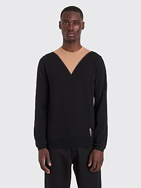 Raf Simons x Fred Perry Stitch Detail Crew Neck Sweater Black