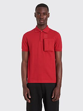 Raf Simons x Fred Perry Space Pocket Pique Shirt Winter Red