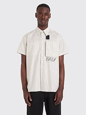 Raf Simons x Fred Perry Space Pocket Micro Check Shirt Basil