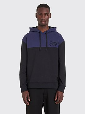 Raf Simons x Fred Perry Embroidered Initial Hooded Sweatshirt Black