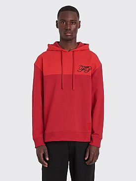 Raf Simons x Fred Perry Embroidered Initial Hooded Sweatshirt Winter Red