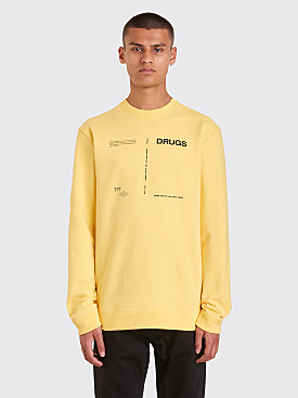 Raf Simons Drugs Regular Round Neck Sweatshirt Yellow
