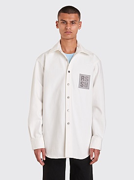 Raf Simons Carry Over Denim Shirt Cream White
