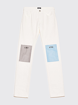 Raf Simons Regular Fit Jeans LSD-XTC Patches Cream White