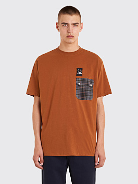 Raf Simons x Fred Perry Pocket Detail T-Shirt Caramel Cafe