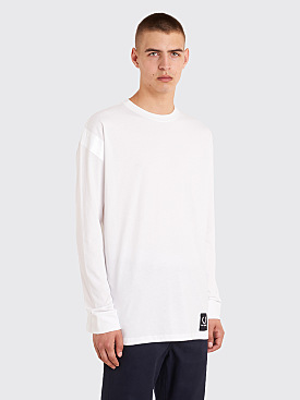 Raf Simons x Fred Perry Tape Detail Long Sleeve T-Shirt White