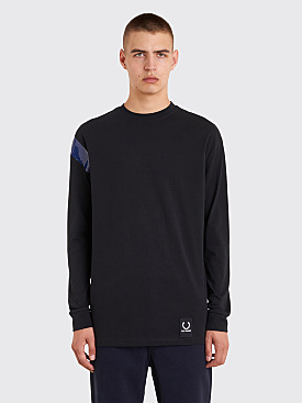Raf Simons x Fred Perry Tape Detail Long Sleeve T-Shirt Black