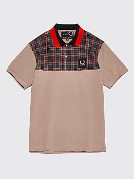 Raf Simons x Fred Perry Check Yoke Pique Shirt Soft Grey
