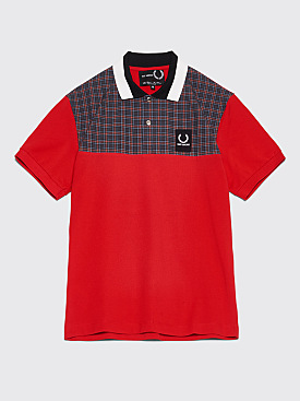 Raf Simons x Fred Perry Check Yoke Pique Shirt Goji Berry