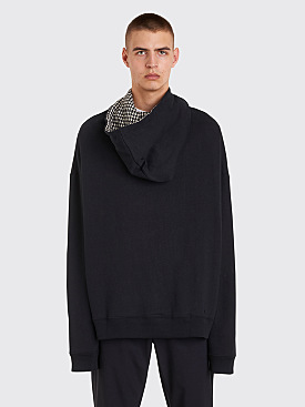 Raf Simons Oversized Hooded Sweatshirt Black