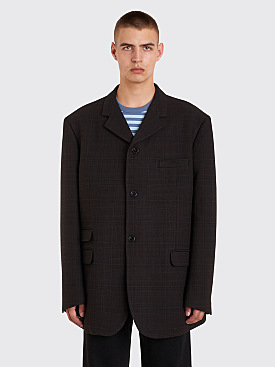 Raf Simons Big Fit Blazer Checkered Dark Brown