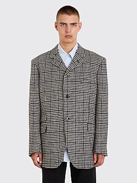 Raf Simons Big Fit Houndstooth Blazer Black / White
