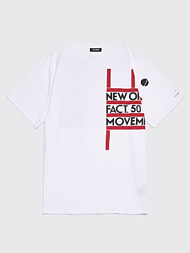 Raf Simons Regular Fit New Order T-shirt White