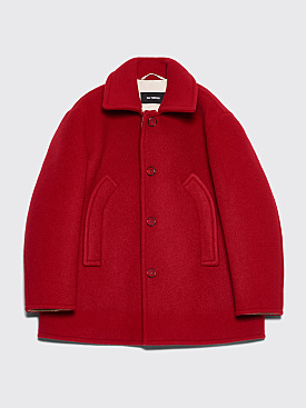 Raf Simons Short Double Button Jacket Red
