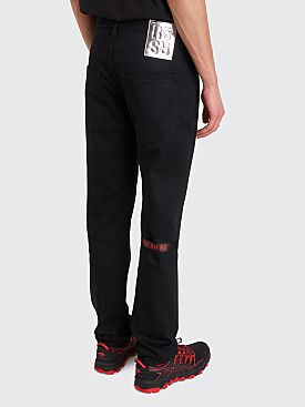 Raf Simons Patch Denim Pants Black
