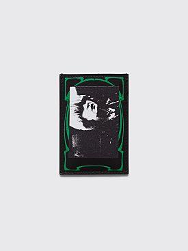 Raf Simons Card Holder Photo Print Black / Green