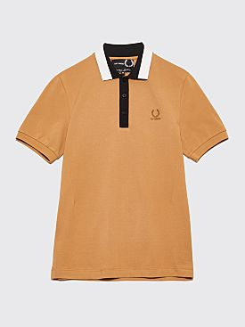 Raf Simons x Fred Perry Tape Collar Pique T-Shirt Butterscotch